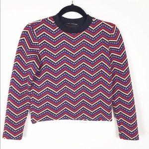 Zara Long Sleeve Patterned Crop Top